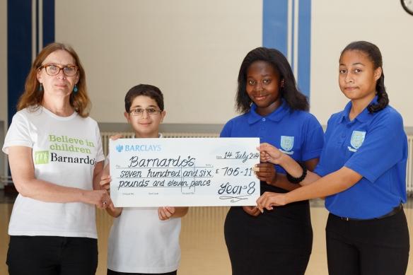 Barnardo's Cheque Presentation