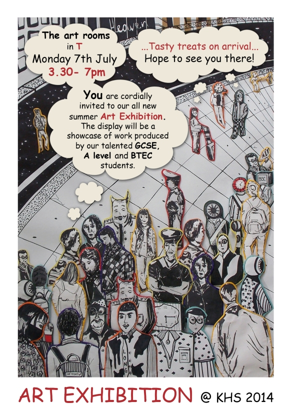 Art & Design Exhibition 2014 poster