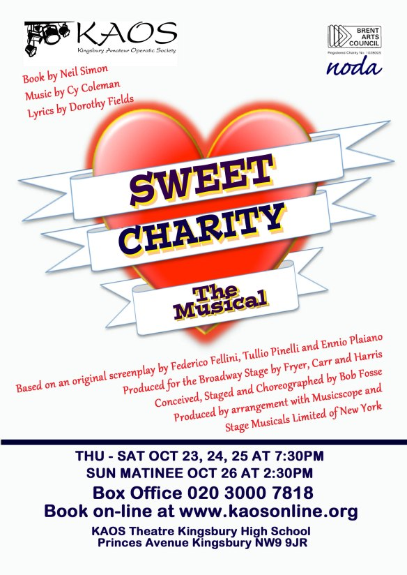 Sweet Charity flyer