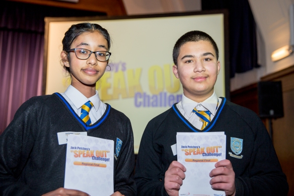 Kingsbury High School hosted the Jack Petchey Speaking Competition. Photograph by Camille Shah